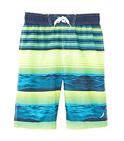 Exertek® Boys' 8-20 Wave Striped Swim Trunks