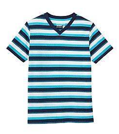 Ruff Hewn Boys' 8-20 Short Sleeve Striped V-Neck Tee