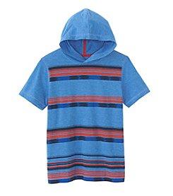 Ruff Hewn Boys' 8-20 Short Sleeve Striped Hoodie