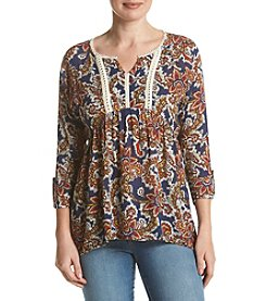 Oneworld® Notch Neck Blouse