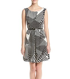 Adrianna Papell® Pleated Fit And Flare Dress
