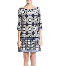 Taylor Dresses Matte Jersey Shift Dress