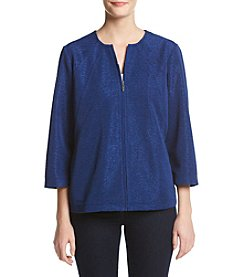 Alfred Dunner® Crescent City Knit Texture Jacket