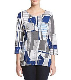 Alfred Dunner® Crescent City Printed Knit Top