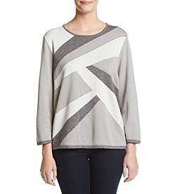 Alfred Dunner® Abstract Colorblock Sweater