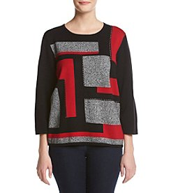 Alfred Dunner® Wrap It Up Colorblock Sweater