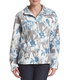 Alfred Dunner® Floral Patch Fleece Jacket