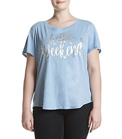 Relativity® Plus Size Hello Weekend Tee