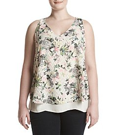 Relativity® Floral Tier Tank