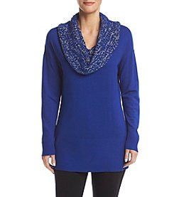 Studio Works® Drop Shoulder Novelty Cowl Neck Pullover Top