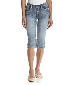 Earl Jean® Petites' Reverse Patch Skimmer Capris