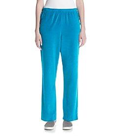 Alfred Dunner® Petites' Velour Short Pants