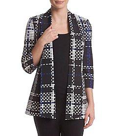 Kasper® Printed Scuba Jacket