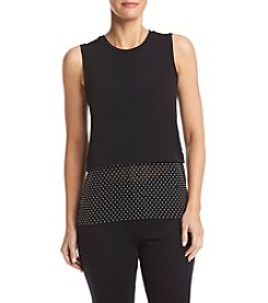 Michael Kors® Crew Neck Woven Top