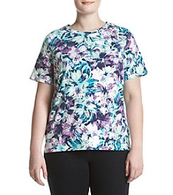 Studio Works® Plus Size Floral Crew Neck Top