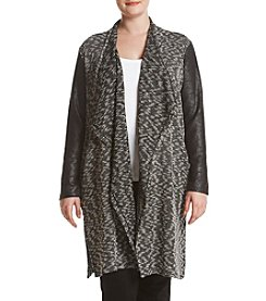 Jones New York® Plus Size Drape Front Cardigan