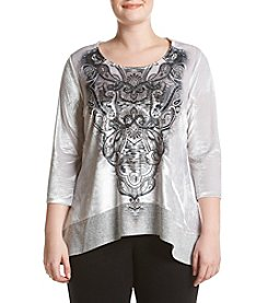 Oneworld® Plus Size Sublimination Top