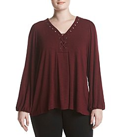 Cupio Plus Size Long Full Swingy Top