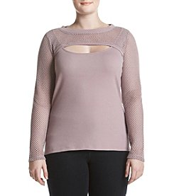 Democracy Mesh Popover Knit Top