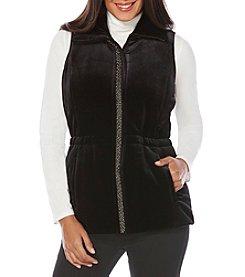 Rafaella® Petites' Velvet Puffer Vest