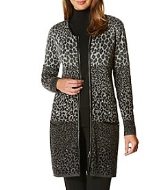 Rafaella® Petites' Animal Print Duster
