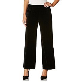 Rafaella® Petites' Velvet Wide Leg Pants