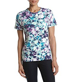 Studio Works® Petites' Floral Crew Neck Top