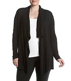 Relativity® Plus Size Pleat Back Cozy Cardigan