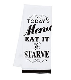 Chef's Quarters® Menu Kitchen Towel