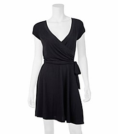 A. Byer Fit And Flare Wrap Dress