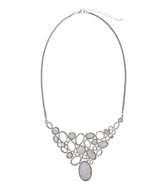 Erica Lyons® Glitter Bib Necklace