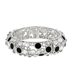 Erica Lyons® Glass Stone Stretch Bangle Bracelet