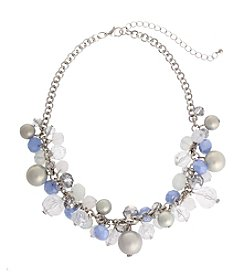 Erica Lyons® Ice Queen Shaky Bead Frontal Necklace