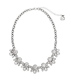 Erica Lyons® Ice Queen Stone Clusters Frontal Necklace