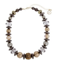 Erica Lyons® Gatsby Beaded Short Necklace