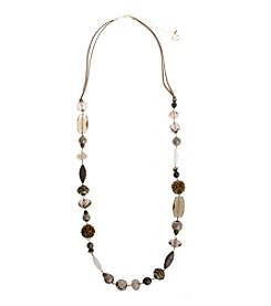 Erica Lyons® Gatsby Long Beaded Necklace