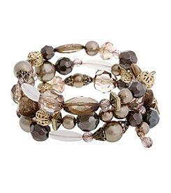 Erica Lyons® Gatsby Beaded Coil Bracelet