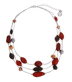Erica Lyons® Mixed Bead Illusion Necklace