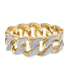 Erica Lyons® Glitter Link Stretch Bracelet