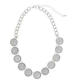 Erica Lyons® Glitter Circles Necklace