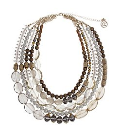 Erica Lyons® Gatsby Five Row Beaded Necklace