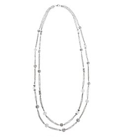 Erica Lyons® Ice Queen Layered Long Necklace
