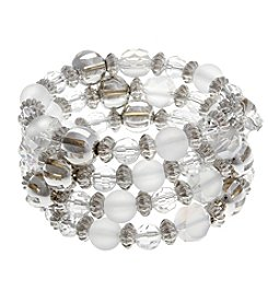 Erica Lyons® Ice Queen Beaded Coil Bracelet