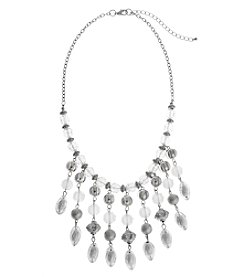 Erica Lyons® Ice Queen Fringe Frontal Necklace