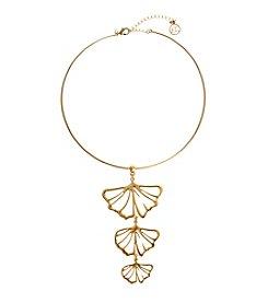 Erica Lyons® Choker Ginkgo Pendant Necklace