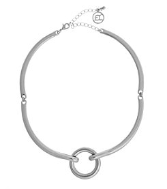 Erica Lyons® Choker Ring Frontal Necklace
