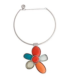 Erica Lyons® Choker Flower Pendant Necklace
