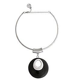 Erica Lyons® Choker Donut Pendant Necklace