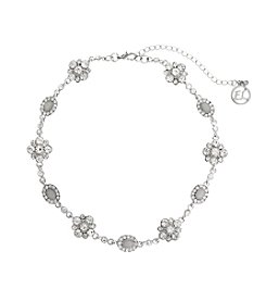 Erica Lyons® Stone Flowers Choker Necklace
