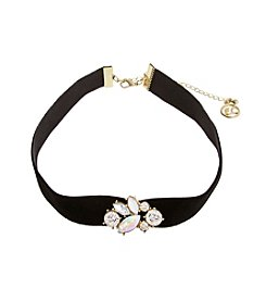 Erica Lyons® Stone Front Choker Necklace